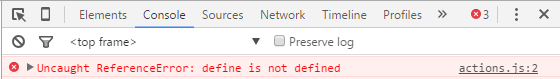 define is not defined