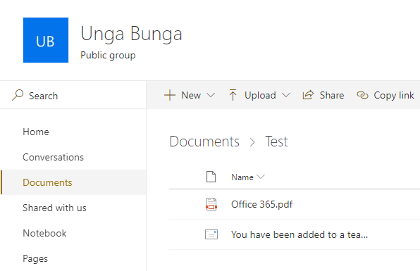 Finding the Files location of Microsoft Teams Channel using the